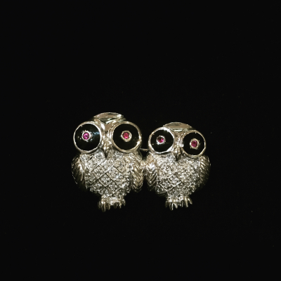 Two Hoots Sterling Silver Owl Brooch