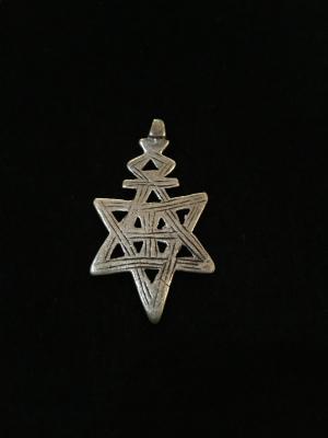 Antique Ethiopian Handmade Silver Star Pendant