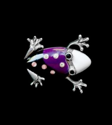 Stunning Gem Set Frog Brooch