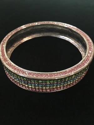 Pastel Coloured Large Crystal Bangle