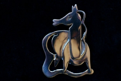 Mexican Horse Brooch or Pendant
