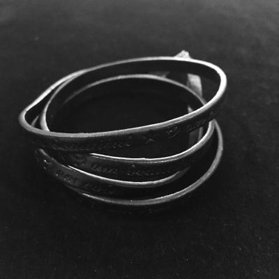 Inspiring Leather Wrap Bracelet
