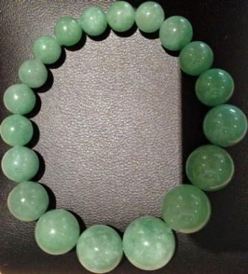 Jade Bracelet On Elastic