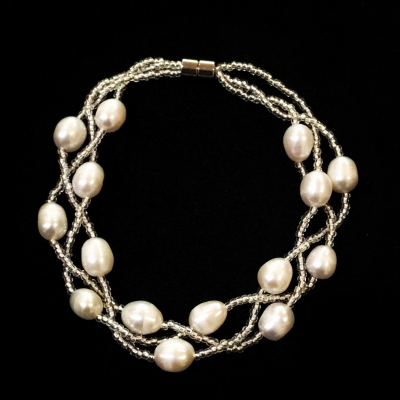 Magnetic Freshwater Pearl Bracelet