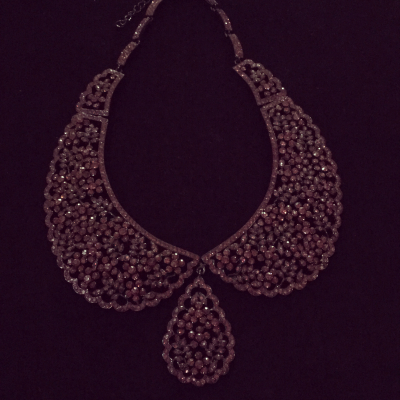 Stunner Burgundy Crystal Collar Necklace