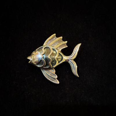 Finn Fish Sterling Silver Brooch