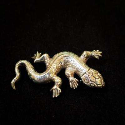 Sterling Silver Gecko Brooch