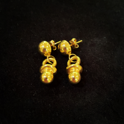18ct Yellow Gold Dummy Earrings