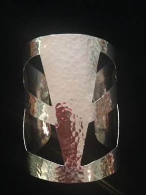 Large Beaten Silver Cuff