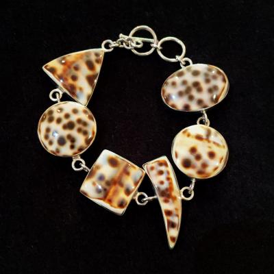 Sterling Silver Cowrie Bracelet
