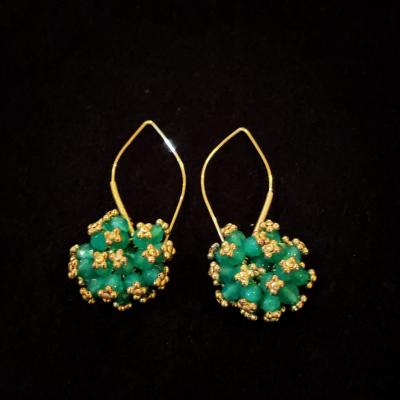 Green Chalcedony Gold Filled Earrings