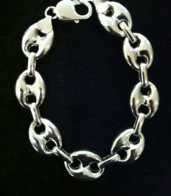 Shiny Finish Sterling Silver Unisex Bracelet