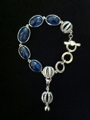 Kyanite Silver Bracelet & Pendant