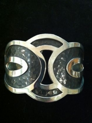 Sterling Silver Oxidised Chunky Cuff