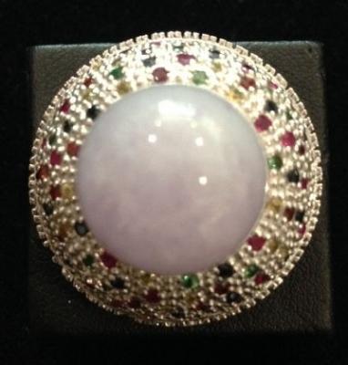 Lavender Jade and Multi Gem Statement Ring