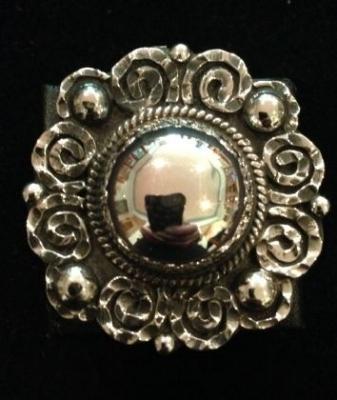 Sterling Silver Adjustable Statement Ring