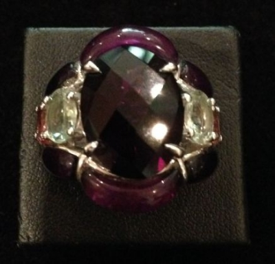 Amethyst Beauty Silver Statement Ring