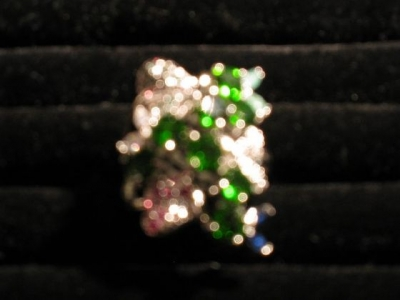 Chrome Diopside Gem Set Ring
