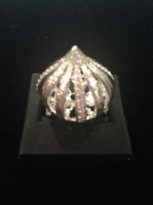 Sterling Silver & Cubic Zirconia Dome Ring